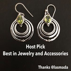 Peridot and sterling earrings